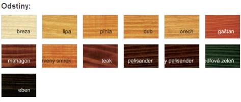 Lazura na dřevo vzorník barev